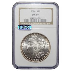 1886 Ngc MS67 Morgan Dollar