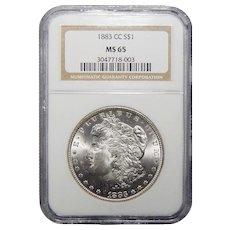 1883-CC Ngc MS65 Morgan Dollar