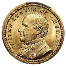 1903 Pcgs MS65 $1 Louisiana Purchase, McKinley Gold