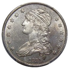 1831 Pcgs MS64 Large Letters Capped Bust Quarter