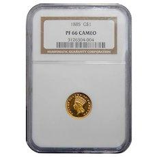 1885 Ngc PR66CAM Gold Dollar