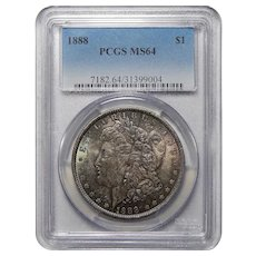1888 Pcgs MS64 Morgan Dollar