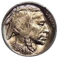 1936-D/S Pcgs MS65 OMM FS-511 (FS-019.8) Buffalo Nickel