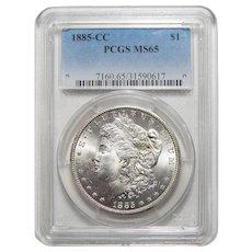 1885-CC Pcgs MS65 Morgan Dollar