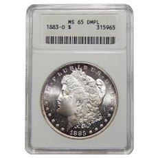 1883-O Anacs MS65DMPL Morgan Dollar