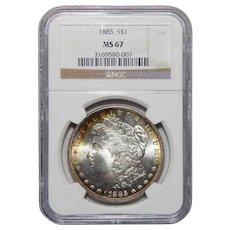 1885 Ngc MS67 Morgan Dollar
