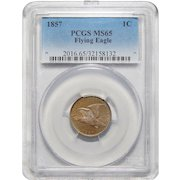 1857 Pcgs MS65 Flying Eagle Cent