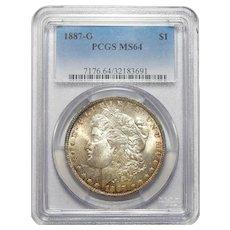 1887-O Pcgs MS64 Morgan Dollar