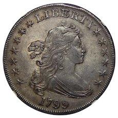 1799 Ngc AU55 Draped Bust Dollar