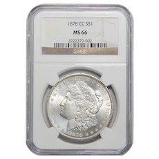 1878-CC Ngc MS66 Morgan Dollar