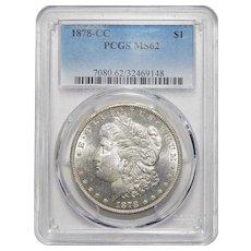 1878-CC Pcgs MS62 Morgan Dollar