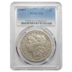 1894 Pcgs F12 Morgan Dollar