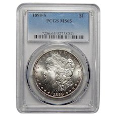 1898-S Pcgs MS65 Morgan Dollar