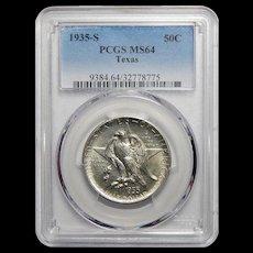 1935-S Pcgs MS64 Texas Half Dollar