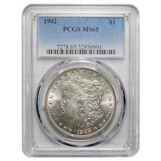 1902 Pcgs MS65 Morgan Dollar