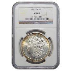 1893-CC Ngc MS63 Morgan Dollar