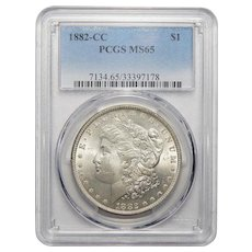 1882-CC Pcgs MS65 Morgan Dollar
