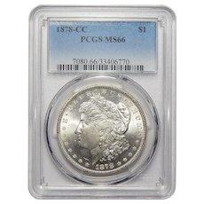1878-CC Pcgs MS66 Morgan Dollar
