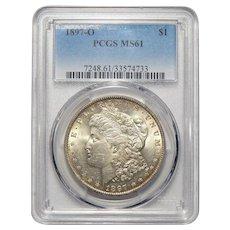 1897-O Pcgs MS61 Morgan Dollar