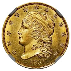 1831 Ngc MS66✮ $2.50 Capped Bust Gold