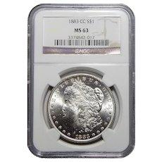 1883-CC Ngc MS63 Morgan Dollar