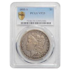 1895-S Pcgs VF25 Morgan Dollar