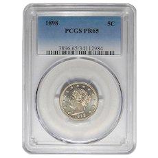 1898 Pcgs PR65 Liberty V Nickel