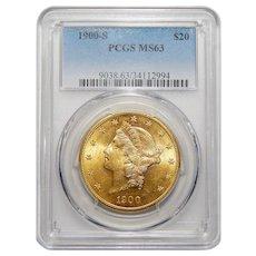1900-S Pcgs MS63 $20 Liberty Head Gold