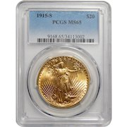 1915-S Pcgs MS65 $20 St. Gauden