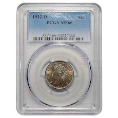 1912-D Pcgs MS66 Liberty Head Nickel