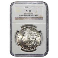 1896-S Ngc MS65 Morgan Dollar