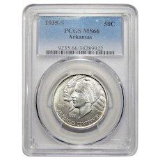 1935-S Pcgs MS66 Arkansas Half Dollar