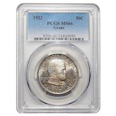 1922 Pcgs MS66 Grant Half Dollar