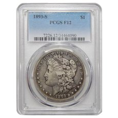 1893-S Pcgs F12 Morgan Dollar