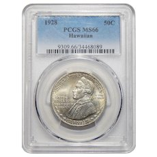 1928 Pcgs MS66 Hawaiian Half Dollar
