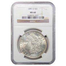 1880-O Ngc MS60 Morgan Dollar