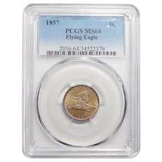1857 Pcgs MS64 Flying Eagle Cent