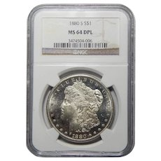 1880-S Ngc MS64DPL Morgan Dollar