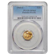1915-S Pcgs MS64 Panama-Pacific Gold Dollar