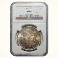 1885-O Ngc MS66 Morgan Dollar