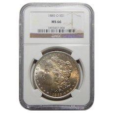 1885-O Ngc MS66 Morgan Dollar