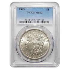 1899 Pcgs MS62 Morgan Dollar