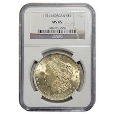 1921 Ngc MS65 Morgan Dollar