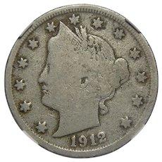 1912-S Ngc VG8 Liberty Nickel