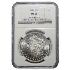 1883 Ngc MS66 Morgan Dollar