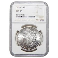 1889-S Ngc MS63 Morgan Dollar