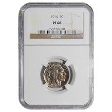 1914 Ngc PF68 Buffalo Nickel