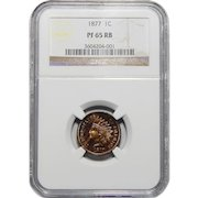 1877 Ngc PR65RB Indian Head Cent