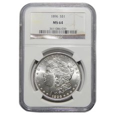 1896 Ngc MS64 Morgan Dollar
