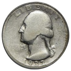 1932-D Icg AG3 Washington Quarter